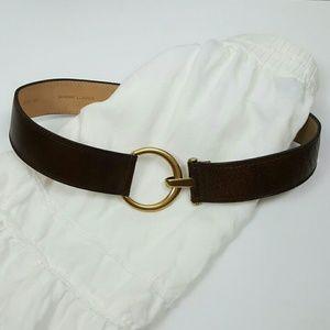 Vintage WCM New York brown genuine leather belt